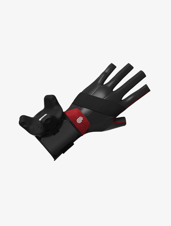 Le capteur Vive Tracker de HTC sur un gant