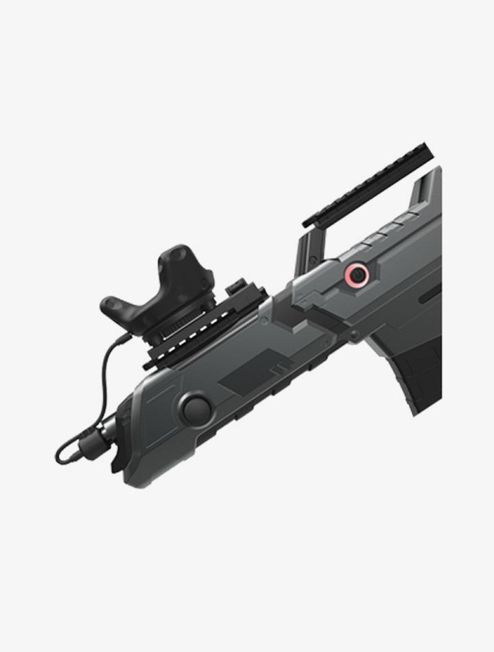 Le capteur Vive Tracker de HTC sur un gun de jeu