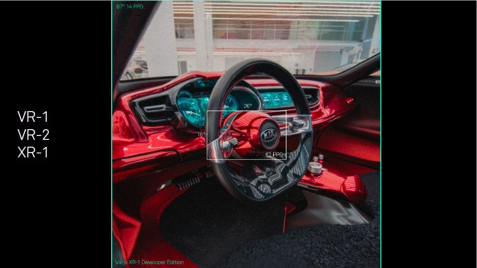 Comparaison image casque réalité virtuelle Varjo VR-3
