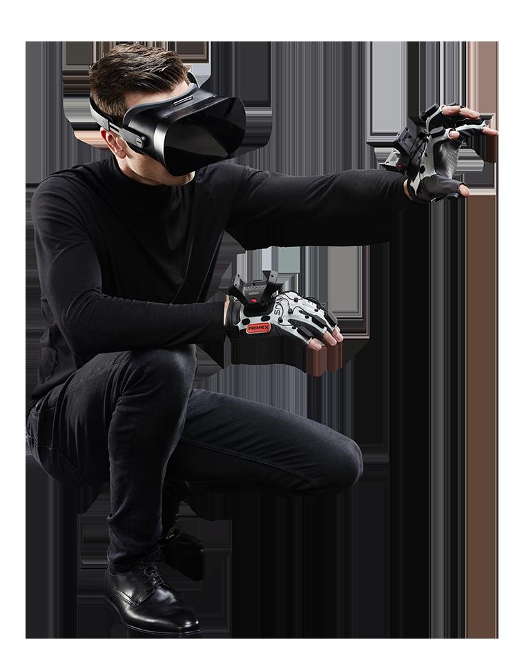 Toucher le virtuel avec les gants Manus Prime X Haptic VR