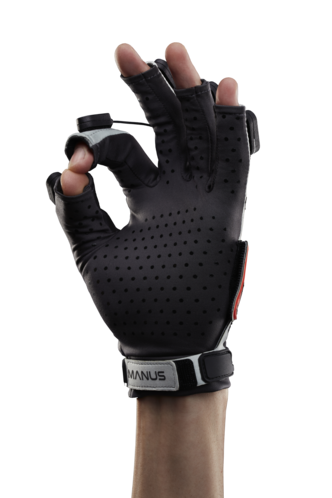 Manus Prime X Haptic VR : rapide, précis, détaillé.